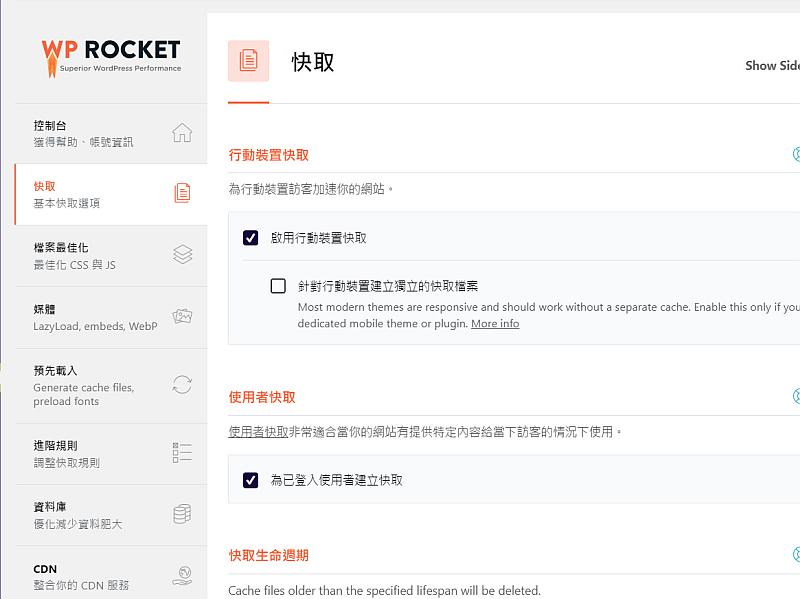 WP Rocket-快取